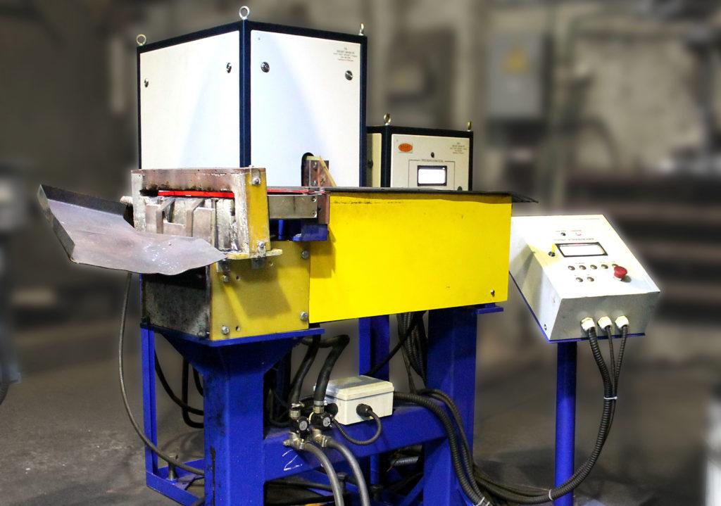 Установка индукционного нагрева ЭЛСИТ-40/20-70 с системой механической подачи заготовок.